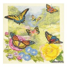 45438-BCL Набор для вышивания BUCILLA 'Сад бабочек' 35,6х35,6 см