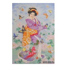 45459-BCL Набор для вышивания BUCILLA 'Гейша-бабочка' 27х41 см