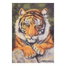 45475-BCL Набор для вышивания BUCILLA 'Бенгальский тигр' 12,7х17,8 см