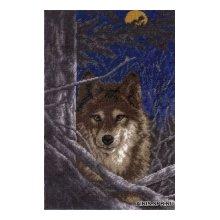 602 Набор для вышивания Hobby&Pro 'Волк',18х28 см