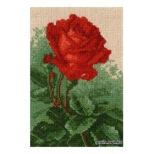 603 Набор для вышивания Hobby&Pro 'Роза' 11х17 см