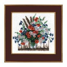 607 Набор для вышивания Hobby&Pro 'Летние цветы', 25х25 см