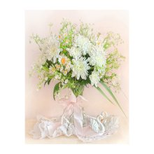 7007 Набор для вышивания в смешанной технике 'Матренин Посад' 'Хризантемы белые', 33х43 см