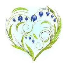 7027 Набор для вышивания лентами 'Матренин Посад' 'Колокольчики-сердце', 15х15 см