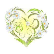 7028 Набор для вышивания лентами 'Матренин Посад' 'Ромашки-сердце', 15х14 см