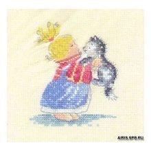 708MSEM Набор для вышивания HERIT 'Элли Мая и Милли' 7х9 см