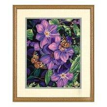 91403-DMS Набор для раскрашивания 'Клематисы и бабочки' 28х36 см