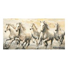 G-1113 Набор для вышивания 'Гобелен Классик' 'Дикие лошади', 19х37,4 см