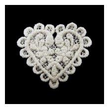 G-522 Декоративный элемент 'Сердце малое', хлопок, 50 мм*45 мм, упак./2 шт