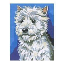MRCK766-60179 Набор для вышивания MARGOT 'Белый пес' 20х25 см