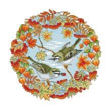Набор для вышивания 'Осень' 35х35 см