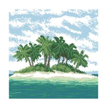 Набор для вышивания 'Остров' 35х35 см