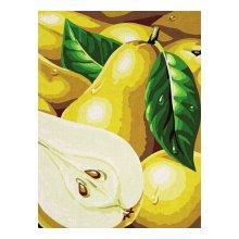 C065 Набор для раскрашивания по номерам 'Желтые груши', 20х30 см