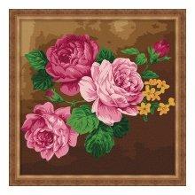 F006 Набор для раскрашивания по номерам 'Розовые розы', 40х40 см