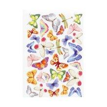 GDTEM001 Фоамиран с принтом 'Бабочки', 20х30 см, Renkalik