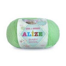 Пряжа ALIZE 'Baby wool' 50 гр. 165 м. (20% бамбук, 40% шерсть, 40% акрил) ТУ