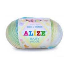 Пряжа ALIZE 'Baby wool batik design' (20% бамбук, 40% шерсть, 40% акрил) ТУ