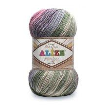 Пряжа ALIZE 'Superlana klasik batik' 100 гр. 280 м. (75% акрил, 25% шерсть) ТУ