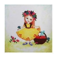 ВЛДС0001 Набор для вышивания лентами Woman-Hobby 'Серия Девочки №1', 13,5х13,5 см