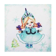 ВЛДС0006 Набор для вышивания лентами Woman-Hobby 'Серия Девочки №6', 13,5х13,5 см