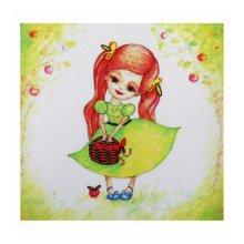 ВЛДС0007 Набор для вышивания лентами Woman-Hobby 'Серия Девочки №7', 13,5х13,5 см