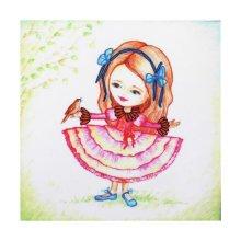 ВЛДС0008 Набор для вышивания лентами Woman-Hobby 'Серия Девочки №8', 13,5х13,5 см