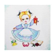 ВЛДС0009 Набор для вышивания лентами Woman-Hobby 'Серия Девочки №9', 13,5х13,5 см