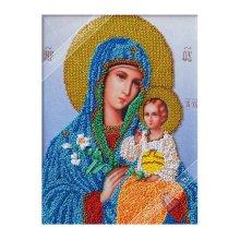 ВЛИС0005 Набор для вышивания лентами Woman-Hobby 'Богородица Неувядаемый цвет', 19,5х25,5 см