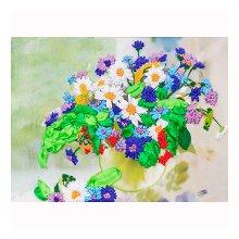 ВЛС 0001 Набор для вышивания лентами Woman-Hobby 'Полевой букет' 28х18см