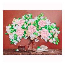 ВЛС 0014 Набор для вышивания лентами Woman-Hobby 'Букет с розами' 28х18 см