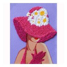 ВЛШС0001 Набор для вышивания лентами Woman-Hobby 'Серия шляпки №1' 18,5х25 см