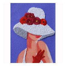 ВЛШС0003 Набор для вышивания лентами Woman-Hobby 'Серия шляпки №3' 18,5х25 см