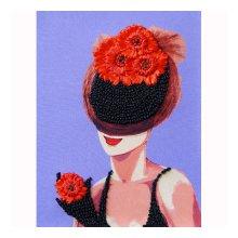 ВЛШС0006 Набор для вышивания лентами Woman-Hobby 'Серия шляпки №6' 18,5х25 см