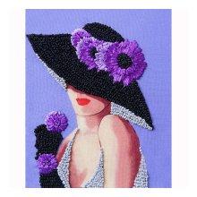 ВЛШС0007 Набор для вышивания лентами Woman-Hobby 'Серия шляпки №7' 18,5х25 см