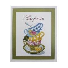 ВТ-005 Набор для вышивания 'Чарівна Мить' Crystal Art 'Time for tea', 20х26 см