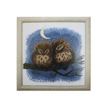 ВТ-012 Набор для вышивания 'Чарівна Мить' Crystal Art 'Совенята', 20,5х20,5 см