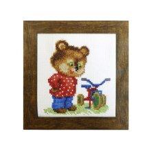 ВТ-017 Набор для вышивания 'Чарівна Мить' Crystal Art 'Подарок для мишки', 10х11 см