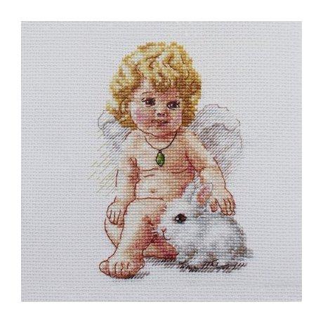0-146 Набор для вышивания 'Алиса' 'Ангел Хранитель', 10х14 см