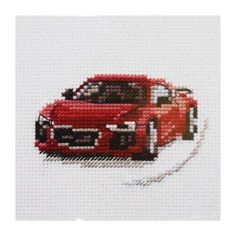 0-157 Набор для вышивания 'Алиса' 'Красный спорткар', 9х6 см