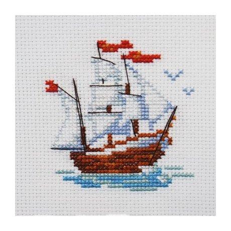 0-159 Набор для вышивания 'Алиса' 'Кораблик', 7х8 см
