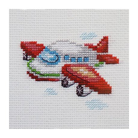0-160 Набор для вышивания 'Алиса' 'Самолетик', 8х6 см