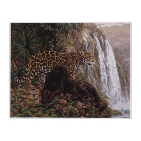 21756-PLD Набор для раскрашивания 'Эльдорадо (леопард)' 41х51 см