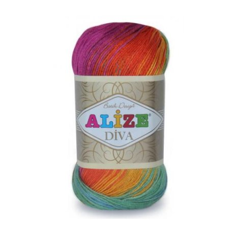 Пряжа ALIZE 'Diva batik design' 100 гр. 350 м. (100% микрофибра) ТУ